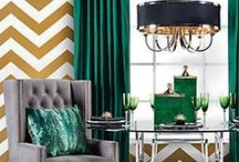 MALACHITE / Dramatic contrasts set the tone for this board. Deep green jeweled tones of peridot and emerald are balanced with polished and matte black. Polished gold accents make a reach appeal, while hand-crafted pieces inspire nature. / by Z Gallerie