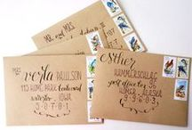 Envelopes - Calligraphy - Stamps
