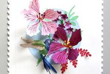 Cut and folded paper / Origami, Kirigami, Quill, wet-folding...