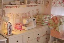 HOME | Sewing Room Inspiration / I finally have a sewing room, but it is oh, so tiny.  What to do, what to do?