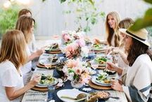 Celebrate, Gather, Entertain by Sorbet Living / styling and color for celebrations
