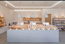 Patisseries and bakeries / Following the popularity of a Japanese bakery featuring wooden surfaces, ceramic tiles and plants, we've collected together a selection of bakeries and patisseries from the pages of Dezeen.
