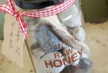 Ideas for Recycling Sweetree Honey Jars / We chose glass jars for our honey for several reasons, but one was to limit plastic and for customers to be able to reuse their glass jars.   Here's some great ways of recycling your old Sweetree Honey Jars!!