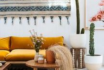 Living Spaces / Our homes offer a place for expression, relaxation and creativity, here's spaces that inspire us.
