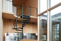 Mezzanines / Homes that feature space-maximising mezzanines, including a Russian residence with elevated net hammocks and a lofty extension in a Parisian apartment.