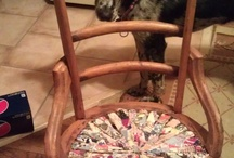 Recycled chair/ Quilt / This is a good way to save the memories of an old quilt. / by Lisa Shingleton