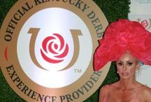 """Princess Aurora"" Fascinator Hat / Huge Organza Rose"