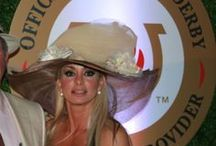 """Brenda's """"Derby Delight"""" Kentucky Derby Hat  """"ONE of a KIND""""! / Taupe Sinamay"""