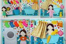 Quiet Book / идеи развивающих книжек для малышей