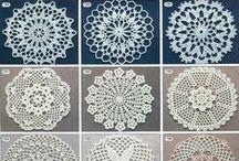 Crochet mini doilies, squares, motifs / схемы
