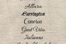 Font types / Design elements