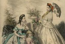 Dresses from 1860's Fashion Books / These are beautiful designs from the 1800's