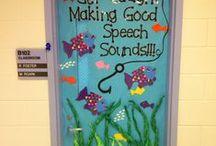 Speech Room Style: Door Decor / Welcome visitors to your Speech Room with beautiful door decor and displays.