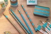 Speech Room Style: Washi Tape Ideas / I'm getting quite addicted to this crafty craze! How will you use it to dazzle your decor?