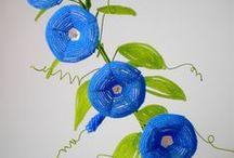 цветы и деревья из бисера / by лариса макарова