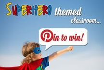 """Superhero Themed Classroom Pin to Win / Enter our Superhero Themed Classroom """"Pin to Win"""" contest to win a grand prize worth over $200!  For full instructions and to make your entry, go to Speech Room Style via the link in the first pin."""