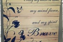Customised Pallet Art / Special Pallet Art created for our clients