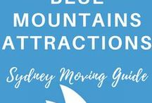 BLUE MOUNTAINS ATTRACTIONS | Sydney Moving Guide / Blue Mountains Australia Travel, New South Wales Destinations, Sydney Day Trips, Sydney Road Trip, Katoomba, Leura, Waterfalls, Hiking, Jenolan Caves, Three Sisters, Camping, Wentworth Falls, Blue Mountains Walks, NSW National Parks
