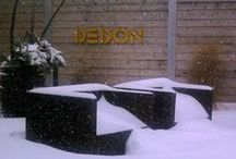 DEDON / DEDON is a world-class line of outdoor furniture engineered to withstand a climate as varied and extreme as Canada's.  They are the world's only outdoor furniture company who controls the production of their own fiber which is 100% recyclable and resistant to temperatures between -35 and +65 degrees Celsius so it is designed to be left outdoors all year.