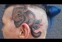 Szynszyle - tatuaże / Szynszyle jako puchaci przyjaciele nie wystarczą? Zawsze można się nimi ozdobić na ciele. Oto przykłady tatuaży z szynszylami! :)