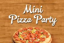 Mini Pizza Party / Fun for the whole family to make together at dinner, for an after school snack, a kid's party, during the big game or in a college dorm room.