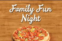 Family Fun Night / Take back Family Night with our Make-N-Bake Pizzas and Bake-N-Make Cookie Kits! Fun for all ages and perfect  as a family bonding activity