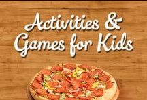 Activities & Games for Kids / We've compiled a collection of fun activities and games for kids and adults while enjoying Family Finest pizza and cookie kits!