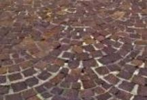 Assorted Brick textures / Painted and raw, Walls and walkways. Broken and complete. For You to Use and Enjoy