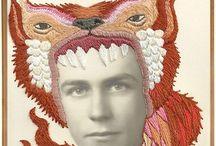 TAFE: drawing - animal self-portrait