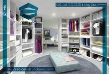 Vestidores y closets. / #DiseñoCReO