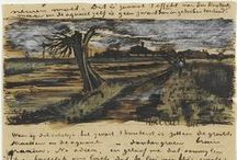 Vincent´s Sketches,Letters&Drawings / Shadows on the hills, Sketch the trees and the daffodils... (Don McLean)