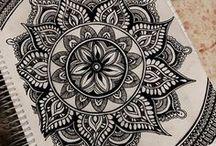 Ornamenty, mozaiky a rámy