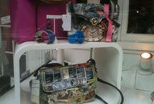 decoupage handbags