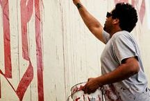 RETNA by WIDEWALLS / Retna is  pseudonym of an American contemporary artist Marquis Lewis, primarily recognized for graffiti art with its distinctive constructed script.