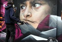ADNATE by WIDEWALLS / Adnate is an Australian portrait painter who is using spray can and acrylic to create the faces of women and aborigine that are pushed up on 5 meter high walls and can be seen in New York, Berlin, Toulouse, and more.