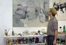Artists working studios / Places others work and ideas for my own studio: messy and organisation ideas