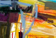 Abstract landscapes / Interested in the line between figurative and abstracted; we only need a small clue to imagine a place.