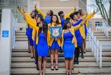 UB Greeks: Sigma Gamma Rho Sorority, Incorporated / . Sigma Gamma Rho Sorority, Incorporated was founded on November 12, 1922 in Indianapolis, Indiana on the campus of Butler University. Sigma Gamma Rho Sorority's aim is to enhance the quality of life within the community. Public service, leadership development and education of youth are the hallmark of the organization's programs and activities.  Founded on the principles of sisterhood, scholarship and service.