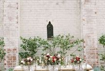 Wedding Reception Style / Celebrating at the reception in perfect class and style. Gorgeous table centerpieces, table placement markers, beautiful flower arrangements- every last detail covered to making your wedding memorable.