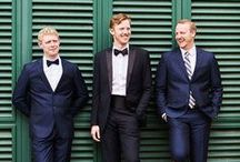 Grooms & Groomsmen / Groom style and design. Suit cuts, fits and styles, boutonnieres, ties and shoes. Look handsome in every photo with your bride and groomsmen. Don't forget to give them the perfect gift to say thank you on your special day!