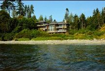 Points West House / Exclusive 7000sq ft, 4 level Sooke oceanfront accommodation with views from every room. Tastefully furnished throughout. Comfortably sleeps 14. 7 br, 6.5 baths