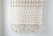weaving, macramé, embroidery, appliques... / tkaní, drhání, vyšívání, textilní koláže...