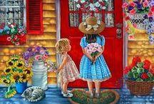 Искусство.ХУДОЖНИЦА TRICIA REILLY-MATTHEWS / Дети. Животные. Мило и трогательно...