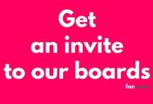 """Get an invite! / Comment """"Add me"""" on one of the pins on this board to join the board. Please make sure you're following us first or the invite won't work. All fans are welcome so please INVITE EACH OTHER! :)"""