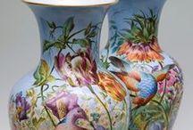 Фарфор. Вазы.(pottery - ceramic) / Красивые вазы,вазочки и вазоны из фарфора, керамики и.д.