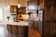 Finished Kitchens / Kitchens that contain work completed by McKean's.  Flooring options include carpet, hardwood, tile, vinyl, laminate, and luxury vinyl tile and plank. Countertop options include plastic laminate (Formica), solid surface, granite and quartz.   Fabrication and installation by McKean's employees.  Over 50 years experience in New Construction and Remodel finishes.