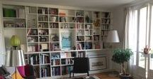 bibliothèque - bookcase / bibliothèque étagères livres shelves books