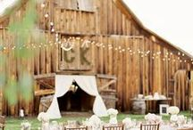 Barn Details / A beautiful display of rustic barns, romantic details and pretty lighting.
