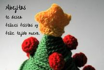 Otros. Xmas cards / Felicitaciones navideñas de ganchillo / by Abejitasorg