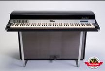 1974 Fender Rhodes Suitcase 88 MIDI - Retro Rentals / From a golden age of Fender Rhodes production, this 1974 Fender Rhodes 88-key is a true original survivor in immaculate shape – original tolex and grill cloth. Going one step further, optical MIDI was added to offer the flexibility without negatively affecting the action. If you're looking for the sound of Herbie Hancock's Chameleon, this Rhodes is that sound. It also was personally played by Herbie and a score of other greats from Down The Rhodes: The Fender Rhodes Story.